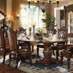 : Formal dining room sets with traditional dining set with marble dining table with dining set with bench and chairs