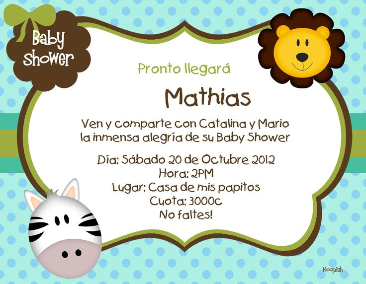 Invitaciones Para Baby Shower Also Decoracion De Baby Shower