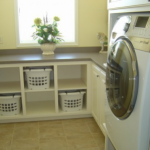 : Laundry room cabinets and plus cherry cabinets and plus laundry shelves over washer dryer and plus beadboard cabinets