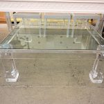 : Lucite coffee table also plexiglass side table also reclaimed coffee table also extra large coffee table