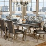 : Modern dining room sets with compact dining table with large dining table with contemporary dinette sets