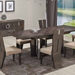 : Modern dining room sets with cool dining tables with leather dining room chairs with contemporary table and chairs