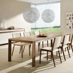 : Modern dining room sets with extendable dining table with modern dining room chairs with contemporary dining chairs