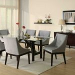 : Modern dining room sets with glass top dining table with dining table design