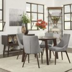 : Modern dining room sets with round dining table with dining table and chairs with dining room furniture