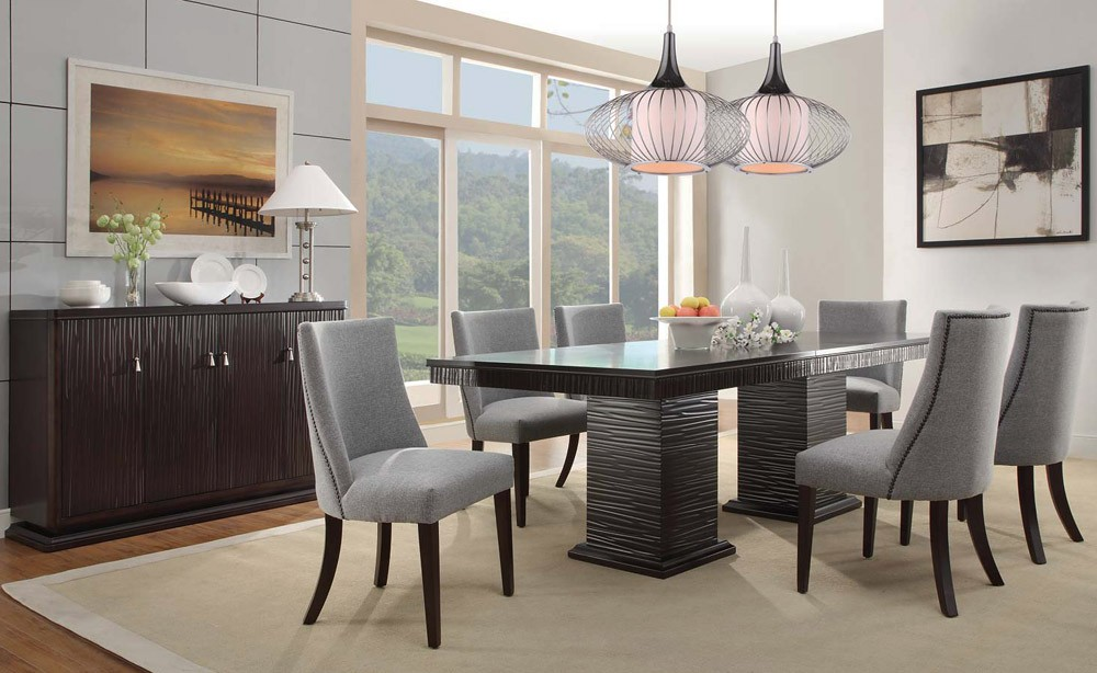 Modern dining room sets with solid wood dining table with high dining table with modern contemporary dining room furniture