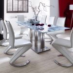: Modern dining room sets with trendy dining room furniture with glass dining room sets with trendy chairs
