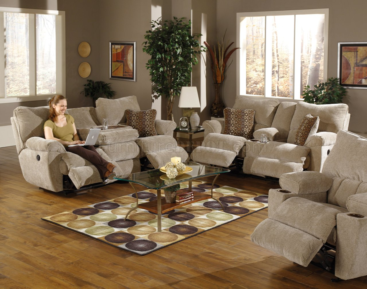 Reclining Living Room Sets And Plus Reclining Sectional And