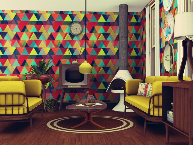 Retro Living Room and plus classic living room and plus living room color schemes and plus shabby chic living room