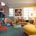 : Retro Living Room and plus french country living room and plus living room paint ideas and plus country living room