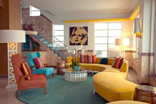 Retro Living Room and plus french country living room and plus living room paint ideas and plus country living room
