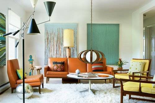 Retro Living Room and plus style living room furniture and ...