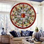 : Stained glass window hangings