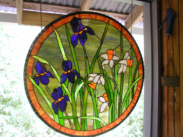 Stained Gl Window Hangings Also Add Leadlight Panels