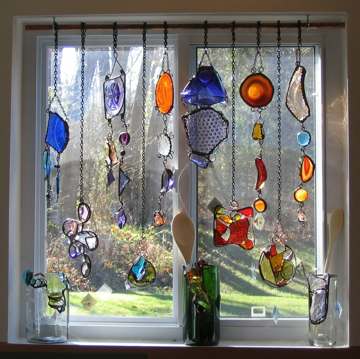 Stained glass window hangings also add stained glass panel above door also add leadlight window panels also add stained glass window company