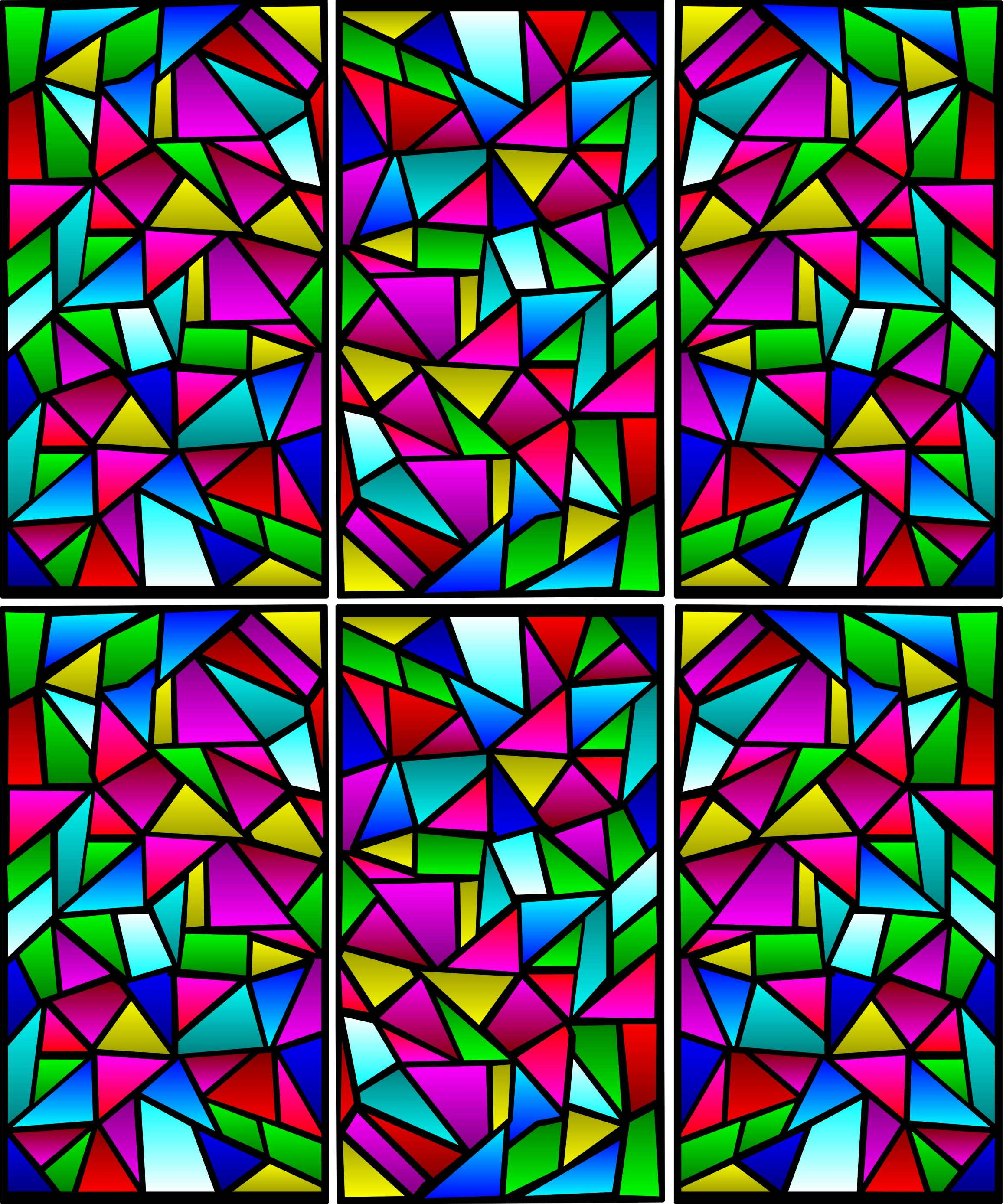 Increase of Stained Glass Window Pattern sin all part of House