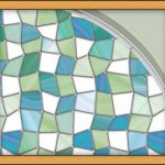 : Window Film Stained Glass with glass coverings for privacy with window tint that looks like stained glass with stick on film to obscure glass