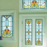 : Window Film Stained Glass with self adhesive stained glass window film with peel and stick window tint with plastic stained glass window film