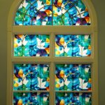 : Window Film Stained Glass with window treatment stained glass with decorative plastic window covering with front door window privacy film