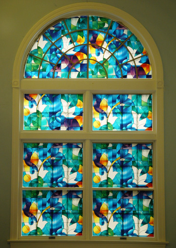 Installing the Window Film Stained Glass