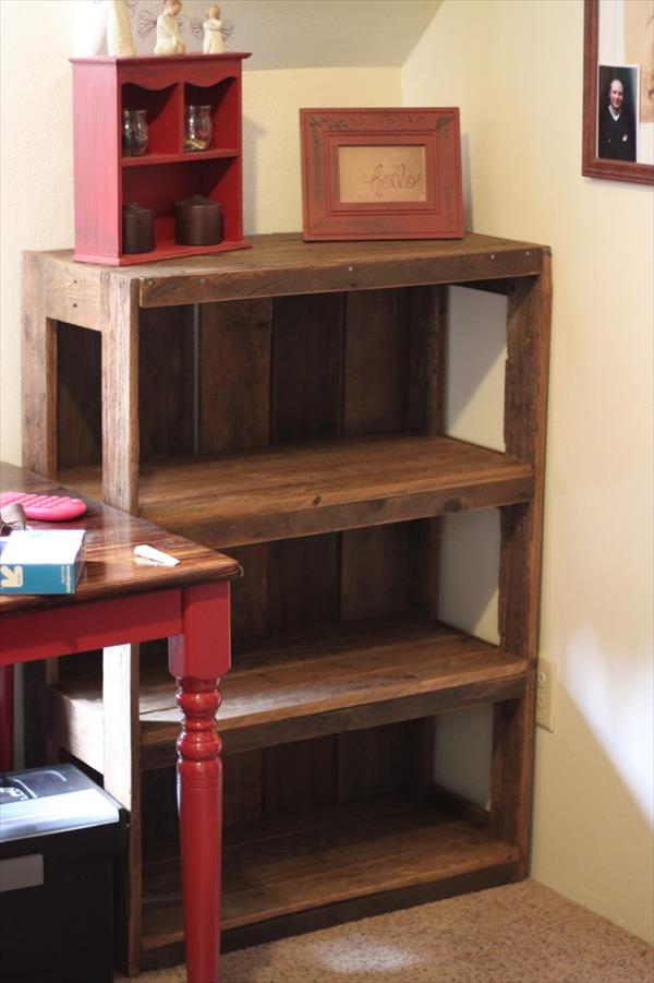 Wood pallet shelves and also pallet bench ideas and also building pallet furniture and also wood pallet wall shelf