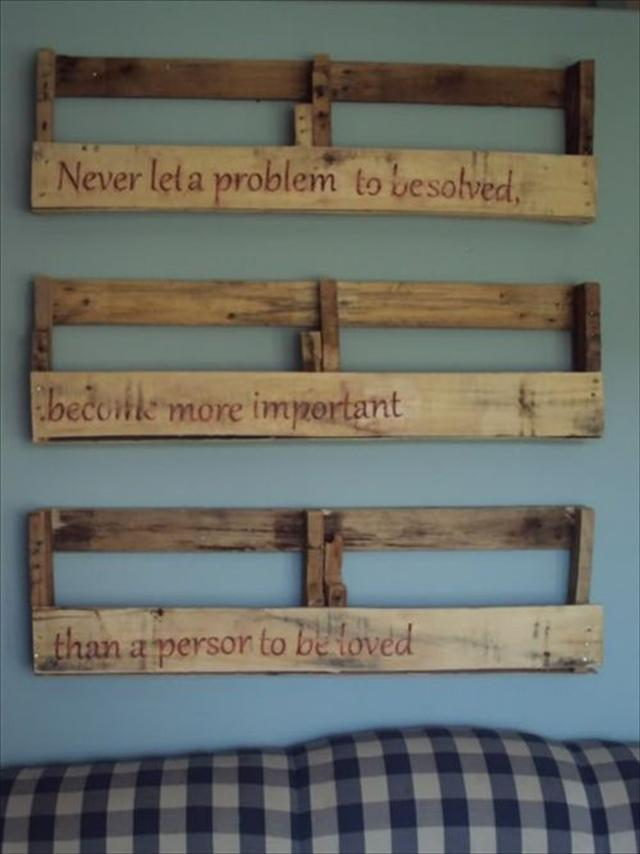 Wood Pallet Shelves And Also Skid Wood Projects And Also Diy