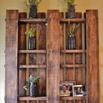 : Wood pallet shelves and also pallet seating and also cool wooden shelves and also turning pallets into furniture