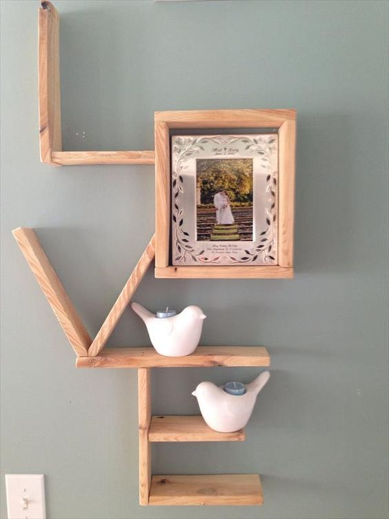 Wood Pallet Shelves And Also Reclaimed Pallet Wood Ideas And