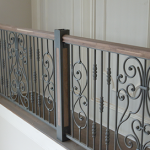: Wrought iron railings also interior railings also rod iron stair railing also decorative wrought iron