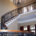 : Wrought iron railings also iron banister also iron porch railing also entrance gate