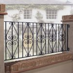: Wrought iron railings also local fence companies also rod iron porch railing