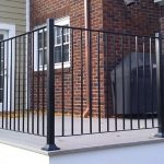: Wrought iron railings also metal porch railing also wrought iron stair handrail also iron railings for steps