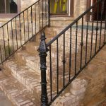 : Wrought iron railings also outdoor wrought iron railings for steps also vinyl fence pricing also custom wrought iron gates