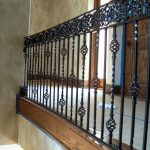 : Wrought iron railings also rod iron fence also metal garden gates also iron stair railing