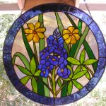 : antique stained glass window hangings