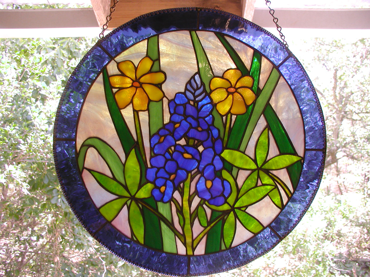 antique stained glass window hangings