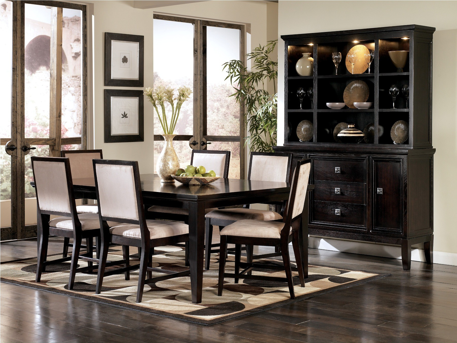 Ashley Furniture Tanshire Dining Room Set Suitable With Ashley Furniture 10 Pc Dining Room Set W China Cabinet Ashley Furniture Dining Room Sets Inspiration Home Magazine
