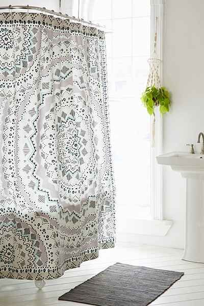 bathroom shower curtains and mats