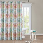 : bathroom shower curtains with valance