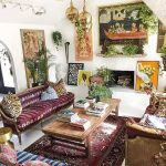 : bohemian chic living room makeover suitable with contemporary bohemian living room suitable with cozy bohemian living room