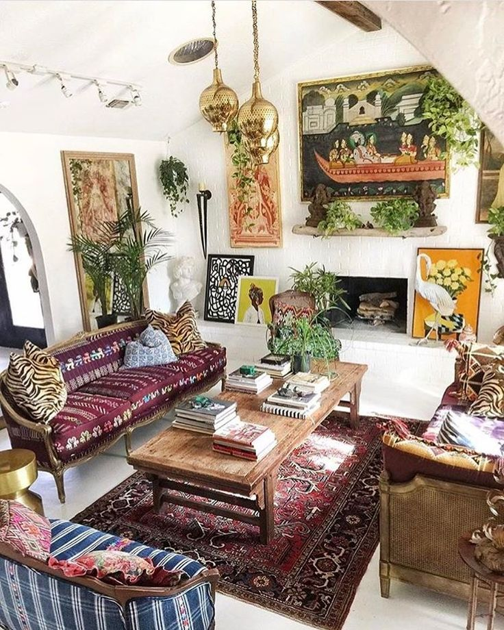 Bohemian chic living room makeover suitable with contemporary bohemian living room suitable with for Bohemian chic living room makeover