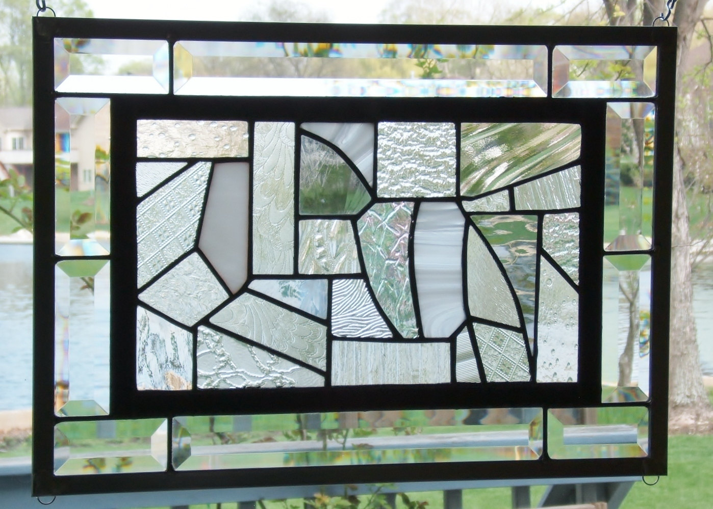 christmas stained glass window hangings