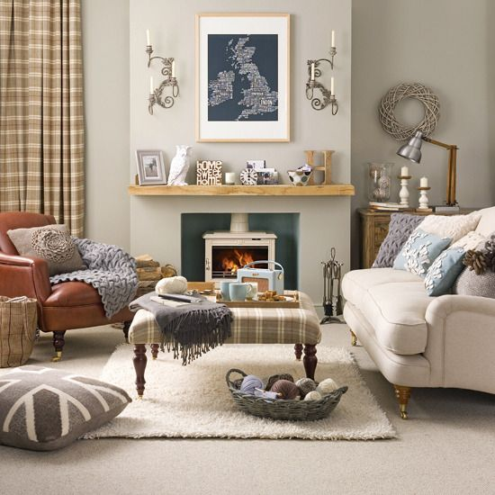Country Living Room Pictures Suitable With