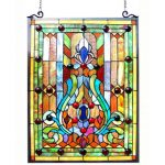 : custom stained glass window hangings