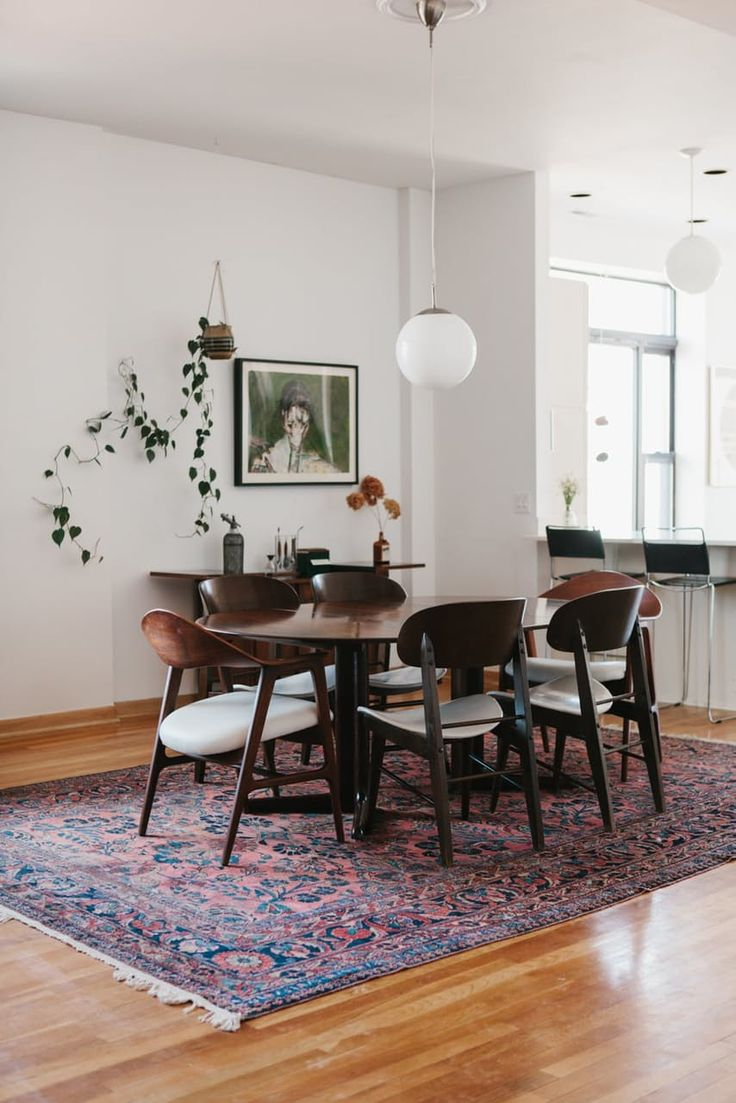 Dining Room Cowhide Rug Suitable With Dining Room Circle Rug
