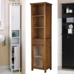 : elysee tall bathroom cabinet also tall oak effect bathroom cabinet also tall bathroom cabinet frosted glass