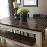 : farmhouse dining room table with leaf suitable with large farmhouse dining room table