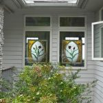 : faux stained glass window hangings