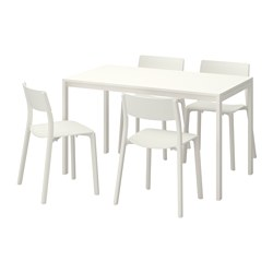 Ikea Dining Room Table With Leaf Suitable Chairs White Sets