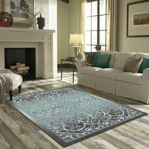 Blue Area Rugs For Living Room Suitable With Brown Area Rugs For